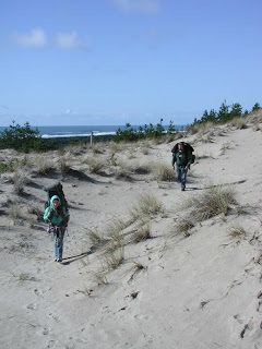 April Backpacking in the Oregon Dunes