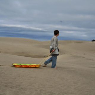 Oregon Dune Sledding!